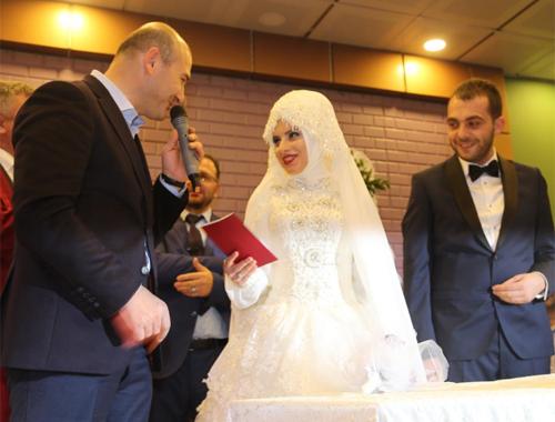 Bakan Soylu nikah şahitliği yaptı!