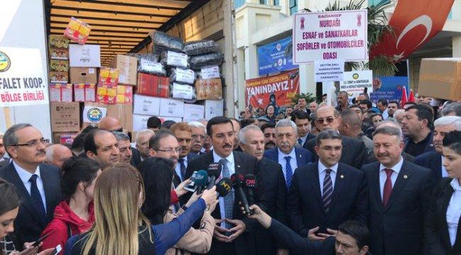 5 bin esnaftan Afrin'e 'Zeytin Dalı'