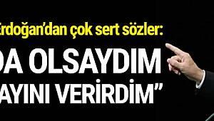 Cumhurbaşkanı Erdoğan, Meclis'te yaşanan gerginlik hakkında çok sert açıklamalarda bulundu.