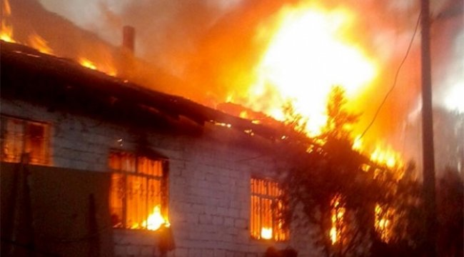 Güzelköy'de ev yangını