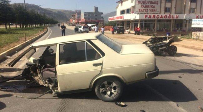 İkiye Bölünen Otomobilden Sağ Çıktılar