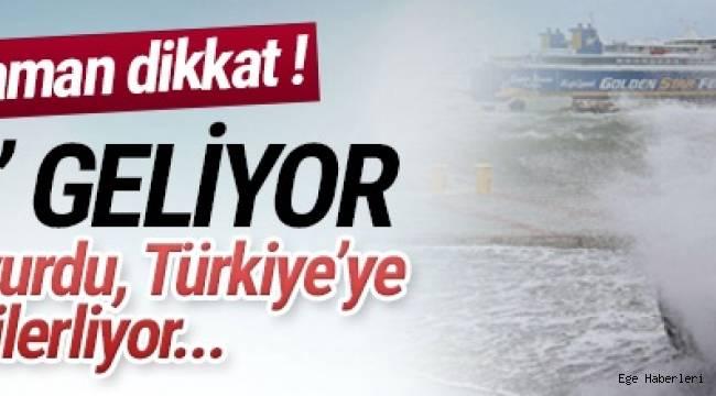 Yunanistan'da hayatı felç eden ''Zorba'' ve ''Ksenofon'' adlı kasırga Türkiye'ye doğru ilerliyor.