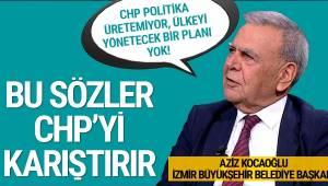 İzmir Büyükşehir Belediye Başkanı Aziz Kocaoğlu, CHP yönetimi bombaladı.