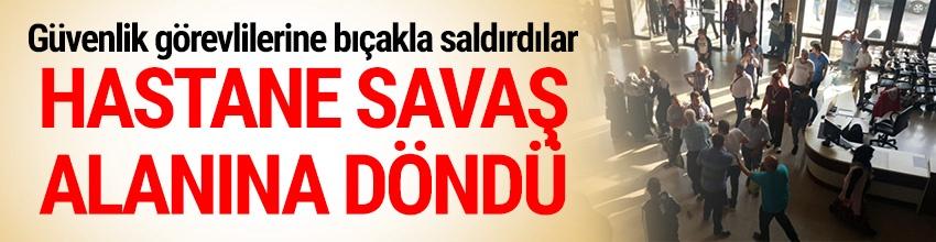 İzmir'de bir hastanede hasta yakınları ile güvenlik görevlileri arasında kavga çıktı.