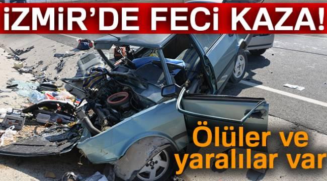 İzmir'de iki otomobil çarpıştı: 2 ölü, 2 yaralı