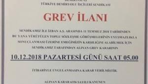 İzmirliler Dikkat! İzban Greve Gidiyor