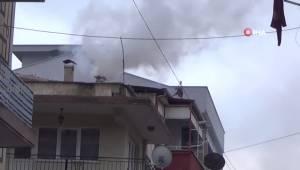 Aydın'da Mahalleliyi Korkutan Baca Yangını