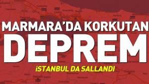 Deprem oldu... Deprem Çanakkale İzmir, İstanbul, Bursa ve Manisa'da da hissedildi.
