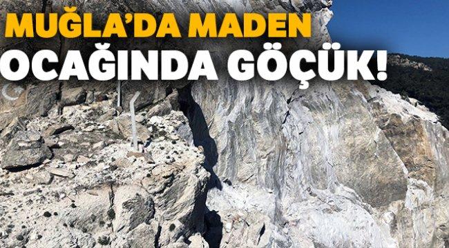 Muğla Milas'ta maden ocağında göçük!