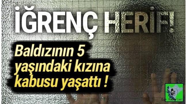 İzmir'de, baldızının 5 yaşındaki kızı G.E.B.'ye cinsel istismarda bulunduğu iddiasıyla tutuklu yargılanan Mustafa D. (33), 10 yıl 5 ay hapis cezasına çarptırıldı.