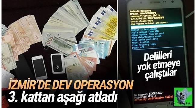 İzmir'de FETÖ'nün hücre evlerine düzenlenen operasyonda 42 şüpheli gözaltına alındı.