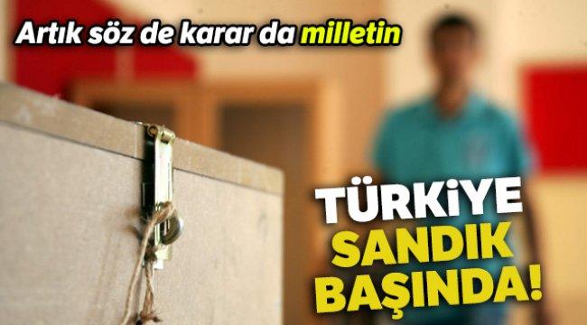 Türkiye sandık başında!