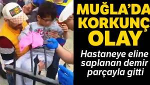 Muğla'nın Bodrum ilçesinde 10 yaşındaki çocuk hastaneye eline saplanan korkulukla gitti