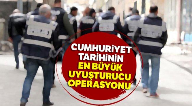 İzmir'de Cumhuriyet tarihinin en büyük uyuşturucu operasyonu