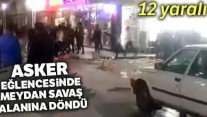 Turgutlu'da asker eğlencesi meydan savaşına döndü: 12 yaralı