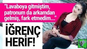 Uşak'da bir kafeteryada garsonluk yapan üniversiteli genç kız iş yerinde uğradığı tacizi böyle anlattı.