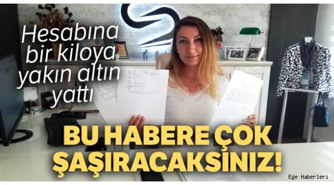 Aydın'da 27 yaşındaki bir kadın hesabına yanlışlıkla yatan 1 kilo altını geri verdi