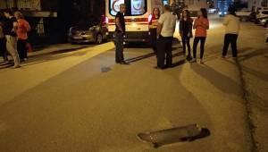 Denizli'nin Pamukkale ilçesinde düşen çocuk hastanelik oldu