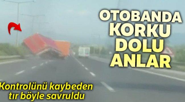 İzmir, Aydın otobanında facianın eşiğinden dönüldü
