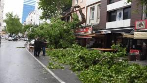 İzmir'de fırtınadan dolayı vapur seferleri iptal edildi