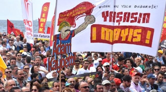 İzmir'de Renkli 1 Mayıs Kutlaması