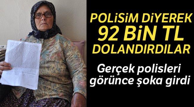 İzmir'in Aliağa ilçesinde yaşayan 69 yaşındaki kadına telefona 'oğlum' diye kaydettirip 92 bin TL dolandırdılar