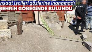İzmir'in Bayraklı ilçesinde Şehrin göbeğinde top mermisi bulundu