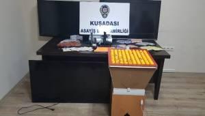 Kuşadası'nda polisin gerçekleştirdiği kumar operasyonunda para karşılığı tombala oynarken suçüstü yakalanan 26 kişi gözaltına alındı.