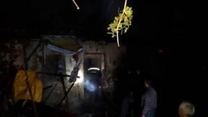 Kütahya'da Yangında Tek Katlı Ahşap Ev Kül Oldu