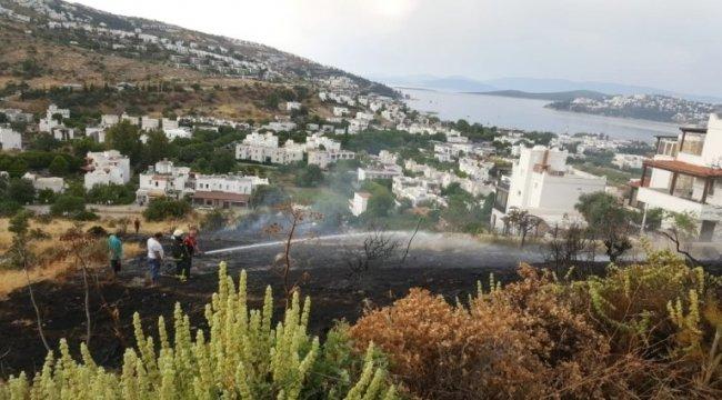 Muğla'nın Bodrum ilçesinde alevler sitelere 5 metre kala durduruldu