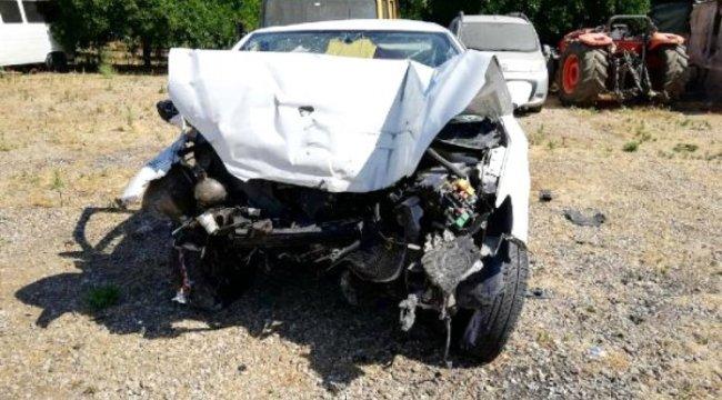 AYDIN'ın Sultanhisar ilçesinde, Otomobil sürücüsü kazada yaralandı