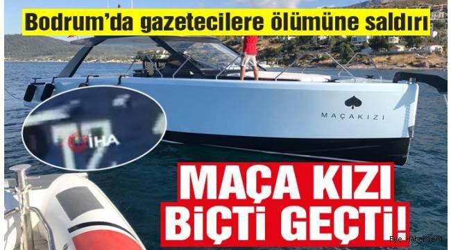Bodrum'da magazin muhabirlerini taşıyan tekneyi bir otelin sürat teknesi gazetecilerin canlarını tehlikeye atarak adeta biçti.