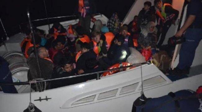 Dikili'de Afganistan uyruklu 35 kaçak yakalandı