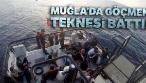 Muğla'da göçmen teknesi battı, 31 kişi kurtarıldı...