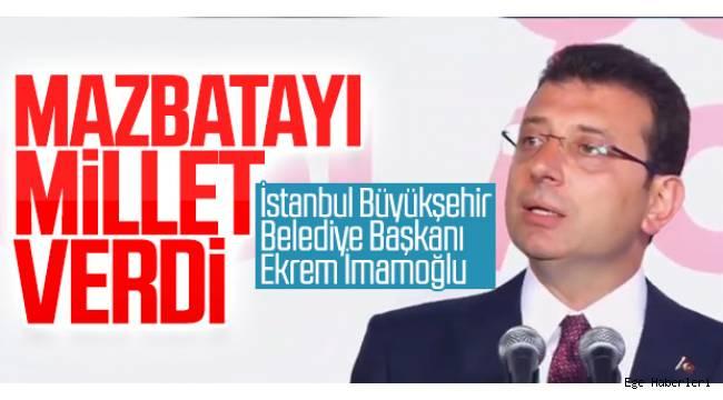 İBB Başkanı Ekrem İmamoğlu,oldu....