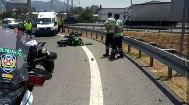 İZMİR'in Bornova ilçesinde, iki motosiklet art arda devrildi: 1 ölü, 1 yaralı