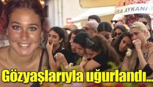 İzmir'in Çeşme ilçesinde, genç yaşta ölen Derin, gözyaşlarıyla uğurlandı