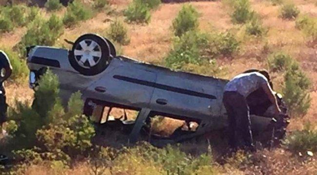 Muğla'nın Fethiye ilçesinde bariyere çarpan otomobil tarlaya uçtu: 1 ölü, 4 yaralı