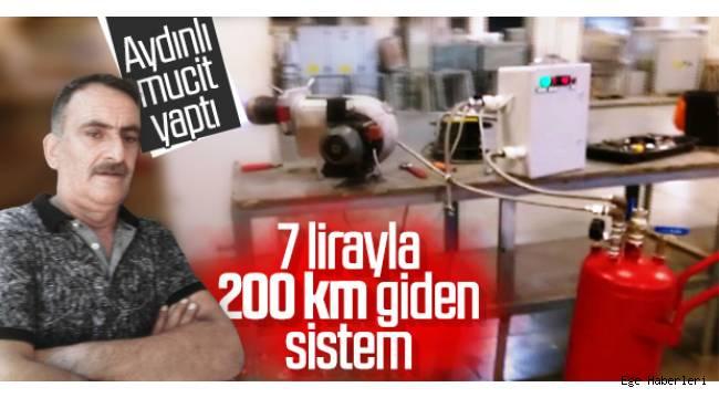 Aydın'da motorlar üzerinde çalışan Deniz Geldeç, benzinin 7 lira olduğu ülkemizde 1 litre benzinle, arabalara 200 km'lik yakıt üreten bir regülatör geliştirdi.