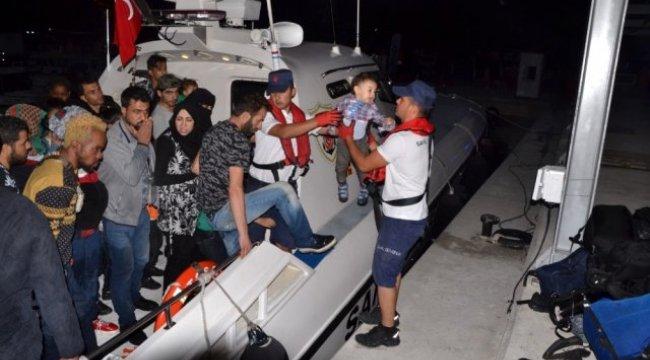 İzmir'de 42 düzensiz göçmen yakalandı