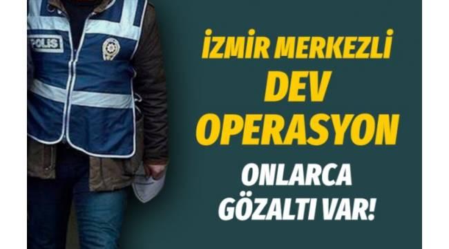 İzmir merkezli büyük göçmen kaçaklığı operasyonu 55 gözaltı var..