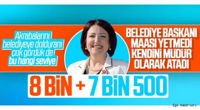 Karaburun Belediye Başkanı İlkay Girgin Erdoğan, müdür olarak atanmasının ve çift maaş almasının tamamen yasal olduğunu söyledi.