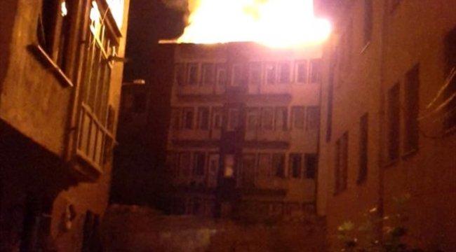 Kütahya'da çatı yangını