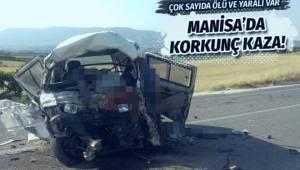 MANİSA'nın Salihli ilçesinde yolcu otobüsü, minibüs ve bir otomobilin karıştığı kazada ilk belirlemelere göre 6 kişi öldü, 10 kişi yaralandı