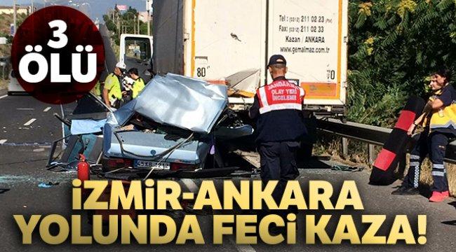 Manisa'nın Turgutlu ilçesinde feci kaza!