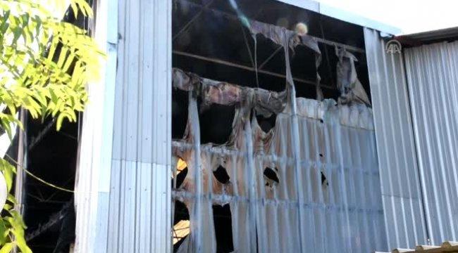 Manisa'nın Turgutlu ilçesinde makine fabrikasında yangın