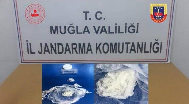 MUĞLA'da otomobildeki uyuşturucuya 3 tutuklama