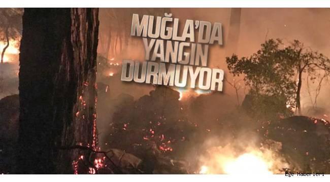 Muğla Dalaman'da öğleden sonra başlayan yangın söndürülemiyor.