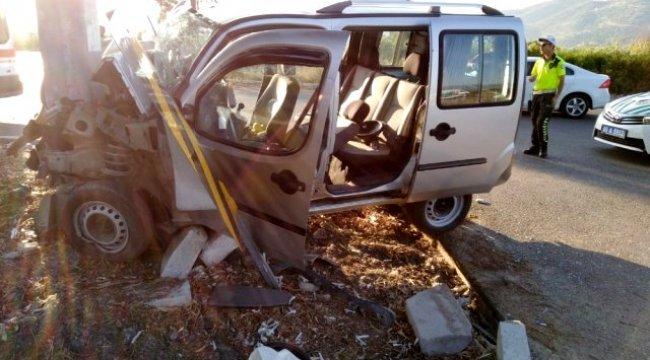 Aydın'daki kazada ağır yaralanan şahıs hastanede hayatını kaybetti