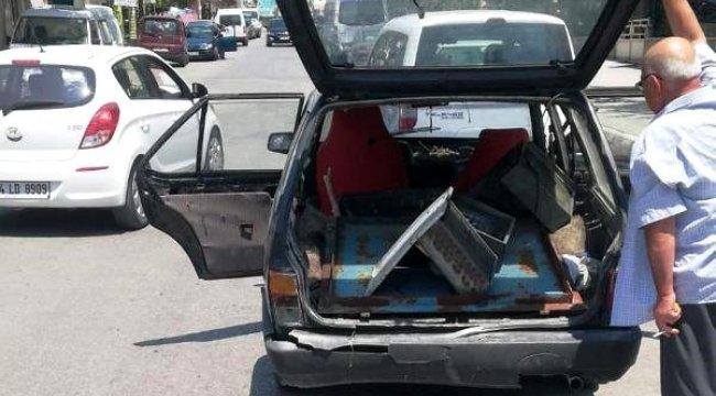 DENİZLİ'nin Honaz ilçesinde, sulama kanalı kapağı hırsızları, kovalamacayla yakalandı
